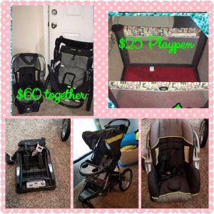 Car seat stroller playpen for Sale in Laredo, TX