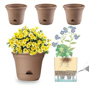 MOHENA 7.5 Inch Self Watering Planter Pot Set of 4 Long-Term Water Storage Plant Pot Deep Reservoir Planter Pot Container for for Sale in Woodlawn, MD