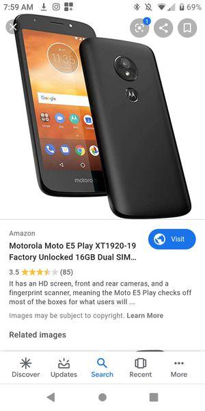 Motorola Moto E5 Play (MetroPCS) for Sale in Martinez, CA