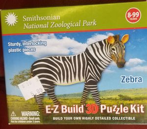 SMITHSONIAN EZ-BUILD 3D ZEBRA PUZZLE KIT *NEW IN PLASTIC for Sale in Phoenix, AZ