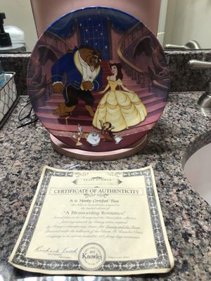 Walt Disney Beauty and the Beast A BLOSSOMING ROMANCE Knowles Collector Plate for Sale in Buda, TX