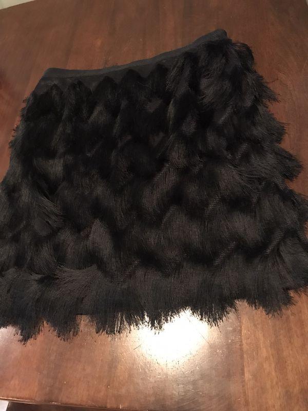 Ann Taylor fringe sexy skirt, sz 8