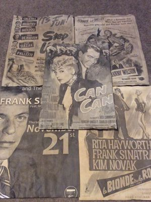 Lot 5 FRANK SINATRA prints vintage old antique flyers / posters❤️ OfferUp 🎁 shipping only. for Sale in La Puente, CA