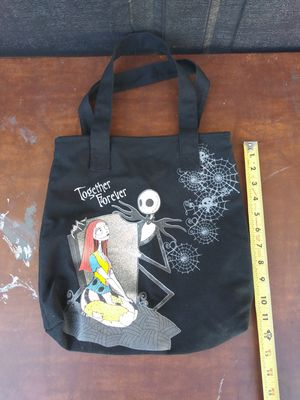 Nightmare before Christmas Jack & Sally canvas tote bag (great gift) for Sale in Corona, CA