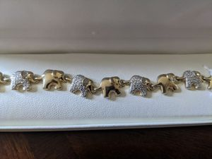 Silver and Gold Elephant Bracelet for Sale in Binghamton, NY