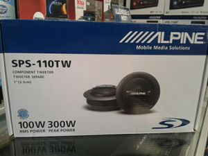 """Alpine Car Audio Component Tweeter Set 1"""" Inch 300watts 🚨 We Beat Downtown Prices 🚨 90 Day Payment Options 🚨 for Sale in Los Angeles, CA"""