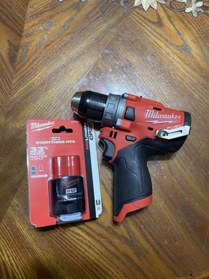 Milwaukee hammer drill with battery new for Sale in El Cajon, CA