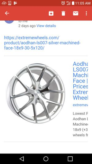 Aodhan 18 rims silver chrome machine brand new in box never mounted no tires only rims if you interest i can send more pictures for Sale in Kissimmee, FL