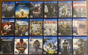 PS4 Games Bundle. NOT SELL SEPARATELY for Sale in San Francisco, CA