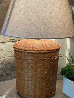 RATAN VINTAGE BOHO LAMP 〰️ for Sale in Austin,  TX