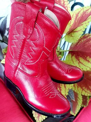 Old West Red Leather Made in India Boots/Toddler size 3 for Sale in Whittier, CA