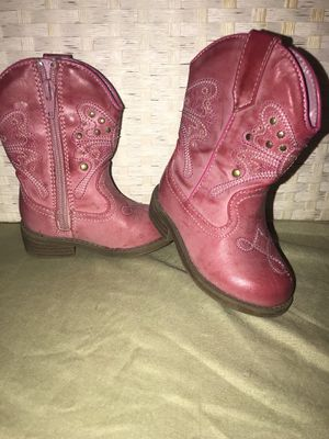Pink cowgirl boots size 5c for Sale in Goose Creek, SC