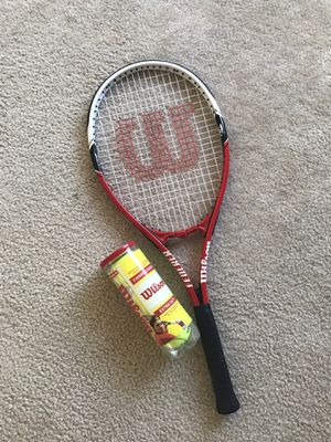 Wilson Federer Adult Strung Tennis Racket for Sale in Arlington, VA