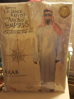 Smiffys Legends and myths of ancient empires for historic parties ARAB w/ tunic and headdress for Sale in Fresno, CA