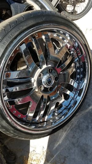 Staggard 5x112 chrome Asanti rims for Sale in Las Vegas, NV