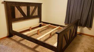Barn Door King Size Bed Frame for Sale in Midland, MI