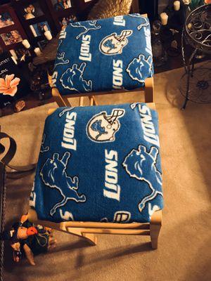 Stools, 2 reupholstered Detroit. Lion Stools. for Sale in Taylor, MI