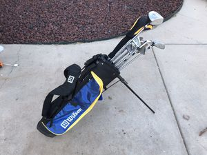 Wilson Golf Clubs (with backpack straps and bag stand) for Sale in Abilene, TX