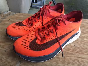 Nike Zoom Vaporfly Bright Crimson 880847-600 LIMITED 100% Authentic Men's Orange/Black Racing Sneakers Size 10.5 for Sale in Kent, WA
