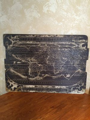 """Wooden Map """"TYPVS ORBIS TEIRARVM""""/see all pictures posted for Sale in Long Grove, IL"""