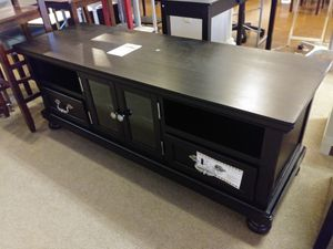 Espresso Solid Wood Tv Stand for Sale in Phoenix, AZ