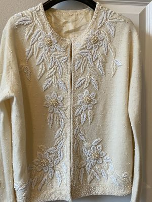 Vintage Beaded Cashmere Blend sweater size small for Sale in Bothell, WA