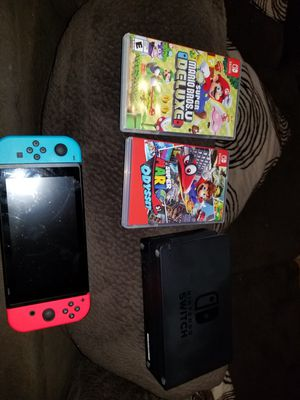 Nintendo switch and 2 games for Sale in San Diego, CA
