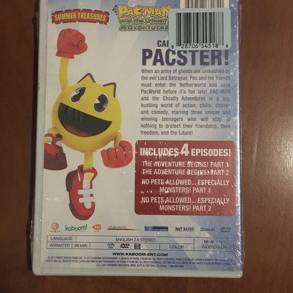 PAC-MAN and the Ghostly Adventures 4 Episodes (DVD) Factory Wrapped