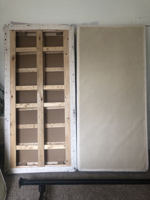 """Solid wood foundation or """"box spring"""" king/twin for Sale in Denver, CO"""