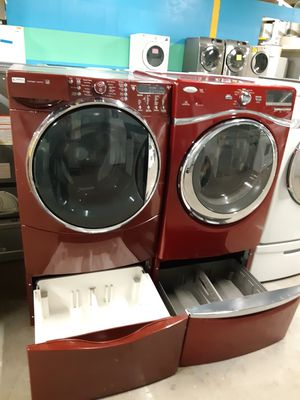 MIX AND MATCH FRONT LOAD WASHER AND DRYER SET WITH PEDESTAL WORKING PERFECTLY for Sale in Baltimore, MD
