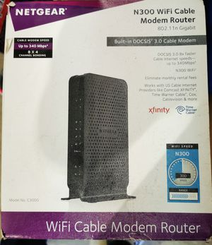 N300 wifi cable modem router for Sale in Garland, TX