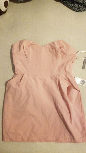 Blush shrt length dress- size 6 for Sale in Cranston, RI