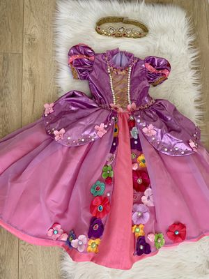 Rapunzel princess flowers toddler girl 3 4 pink purple dress for Sale in Hawthorne, CA