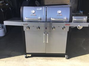 Like new bbq grill charbroil stainless steel for Sale in Ontario, CA
