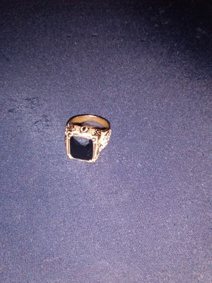 14k gold filled men's onyx ring for Sale in Tampa, FL