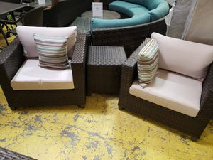New 3pc outdoor patio furniture chat set sunbrella fabric tax included for Sale in Hayward, CA