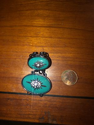 Double turquoise background silver accent Charm for Sale in Plainfield, IL
