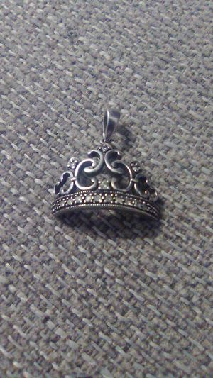 Sterling Silver Crown Charm for Sale in Greensburg, PA