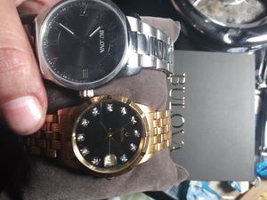 ×2 Bulova's 1-silver make offer / #2 Gold - plated bulova 24k.... Make best offer, comes with links and case for Sale in Las Vegas, NV