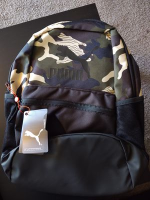 New Puma black and camo pattern backpack for Sale in Lakewood, CO
