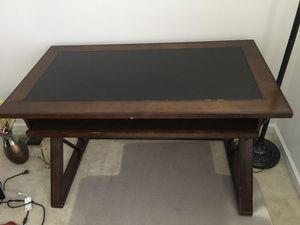 Computer desk, Brown Cherry for Sale in Ashburn, VA
