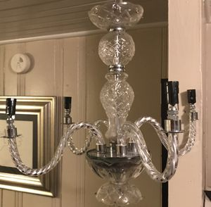 Glass chandelier 4 arms for Sale in Houston, TX