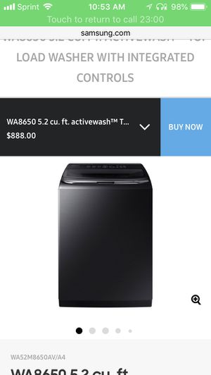 Brand new electric washer and dryer Samsung Prerinse top for Sale in Homestead, PA