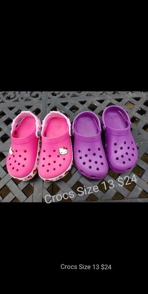 Girls Crocs Size 13 for Sale in Alexandria, VA