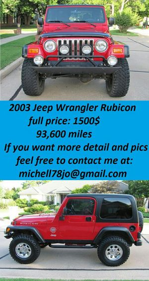 2003*JeepWranglerRubicon*FirstOwnerr for Sale in New York, NY