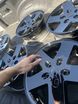 JEEP RIMS powdercoated for Sale in Oklahoma City, OK