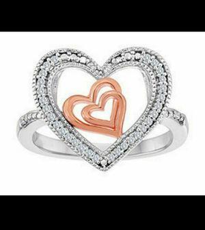 Brand new Genuine Diamond heart ring. Size 6. for Sale in Mesa, AZ