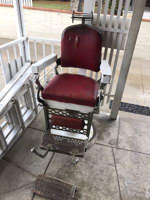 Antique Vintage Hercules Barber Shop Chair Parts Restoration Berninghaus for Sale in Pasadena, CA
