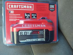 Craftsman batterie 6.0ah no lower$$ for Sale in Modesto, CA