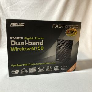 Asus Rt-n65r gaming gigabit Router dual band extremely fast WiFi for Sale in Phoenix, AZ
